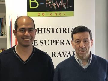 Glenn Caliba y Josep Masabeu, durante su visita a Madrid para presentar el libro 20 historias de superación en El Raval
