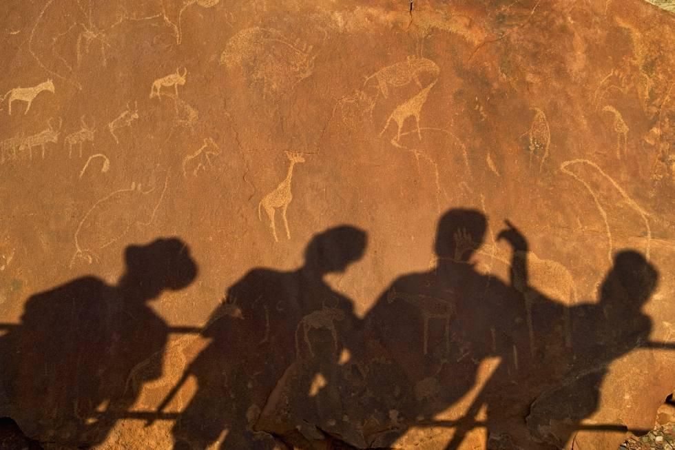 Petroglifos de Twyfelfontein (Namibia).