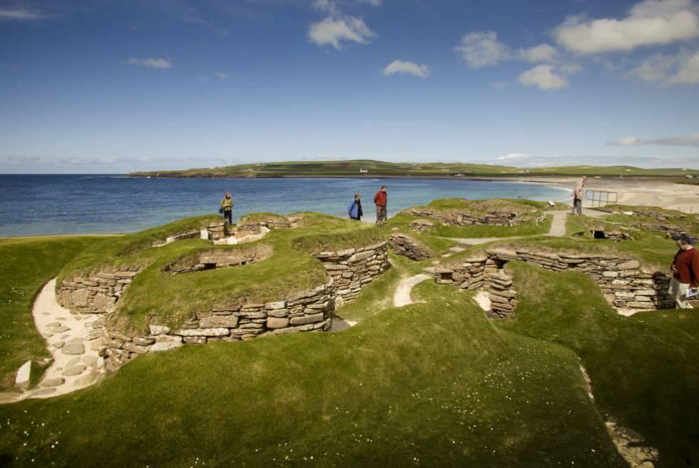 Poblado neolítico de Skara Brae (Islas Orcadas, Escocia).