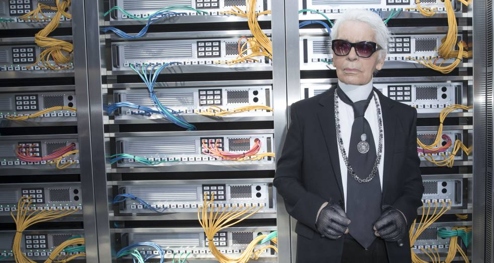 Karl Lagerfel en la semana de la moda de París de 2016.
