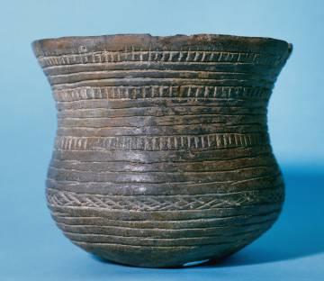 Vaso campaniforme do Neolítico, encontrado em Sabadell.