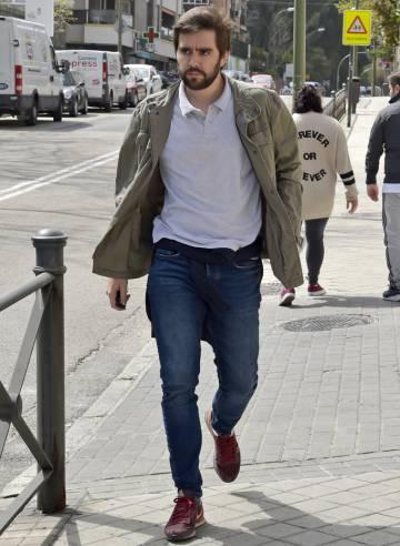 El novio, Pedro de Armas, el día antes de su boda en Madrid.