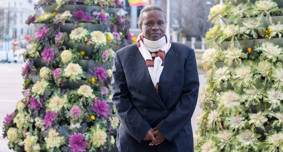 Quite Djata, coordinadora del Comité Nacional para el Abandono de Prácticas Tradicionales Perjudiciales para la Salud de las Mujeres y la Infancia (CNAPN) de Guinea Bissau, durante su visita a Madrid en marzo de 2018.