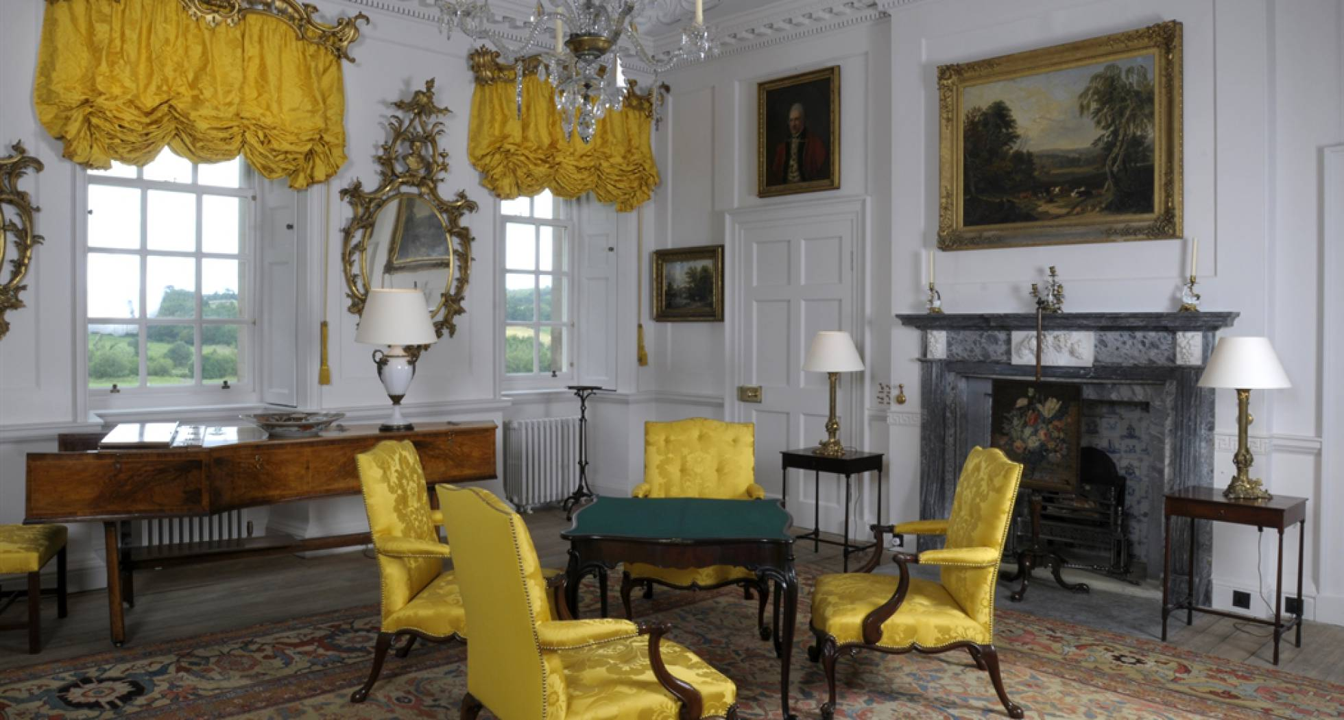 Interior de Dumfries House.