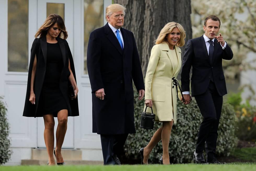 El lenguaje oculto del duelo estilístico de Melania Trump y Brigitte Macron f20c3ffcf2b