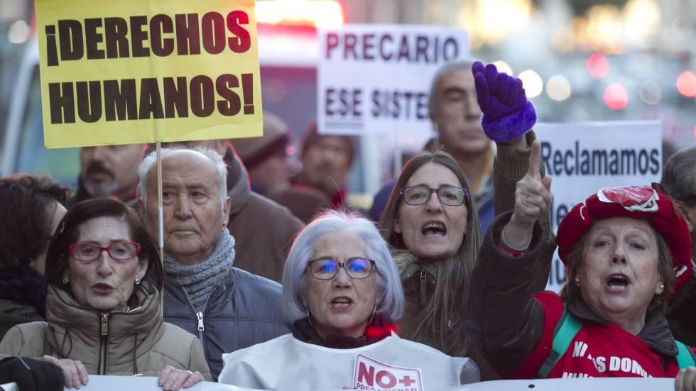 Marcha contra la precariedad laboral en Madrid