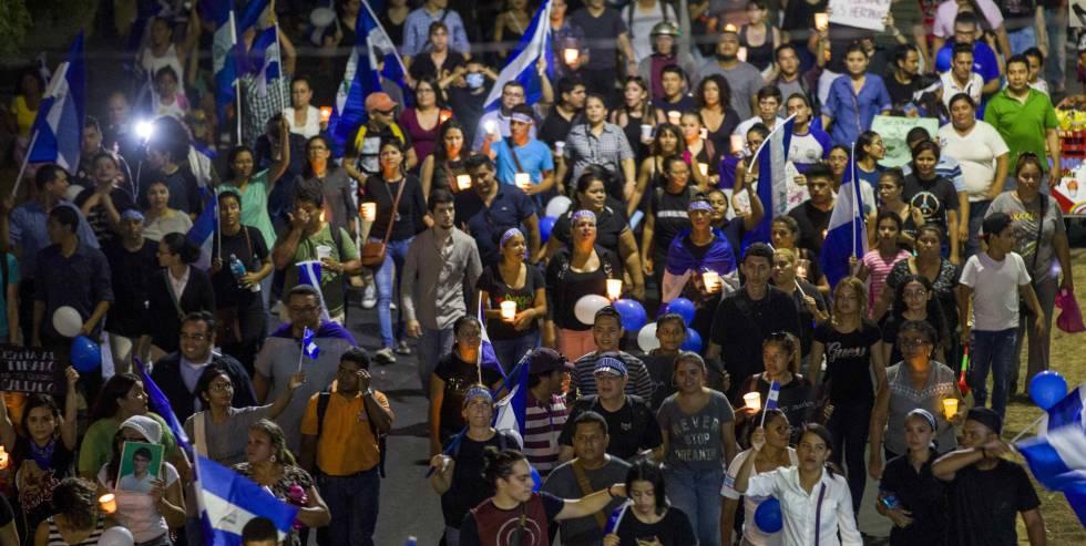 Marcha contra el gobierno de Daniel Ortega en Managua