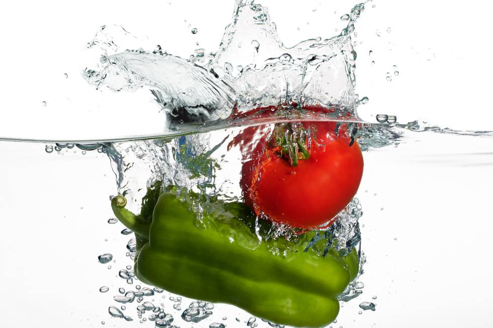 limpiar frutas verduras