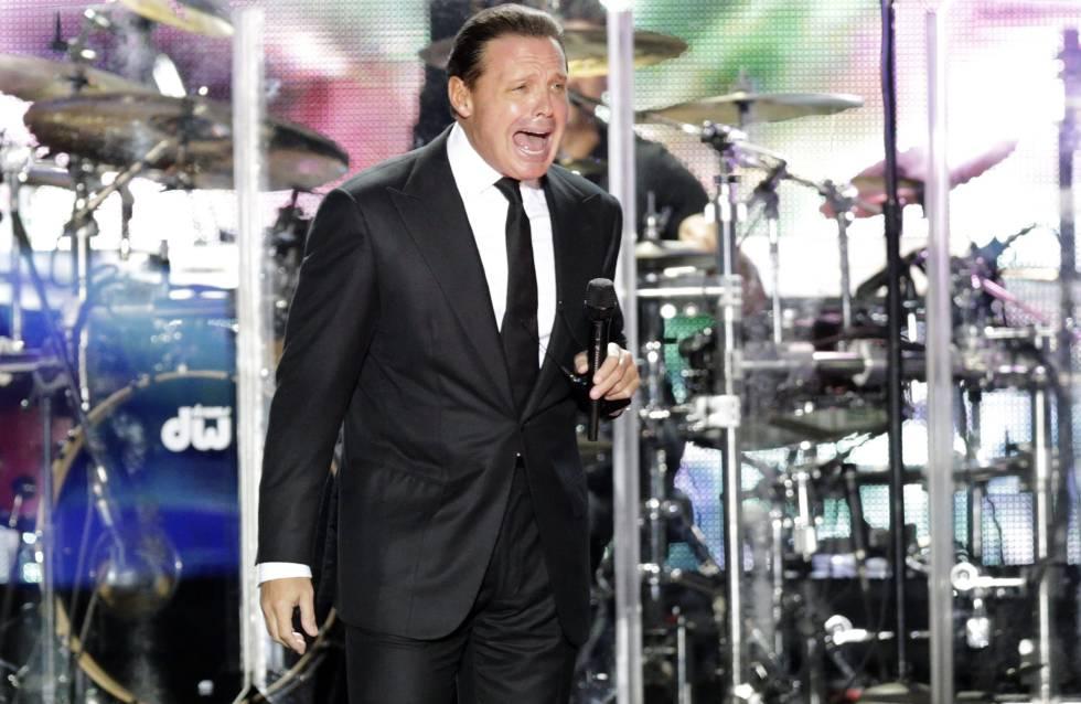 El cantante Luis Miguel, durante una actuación.