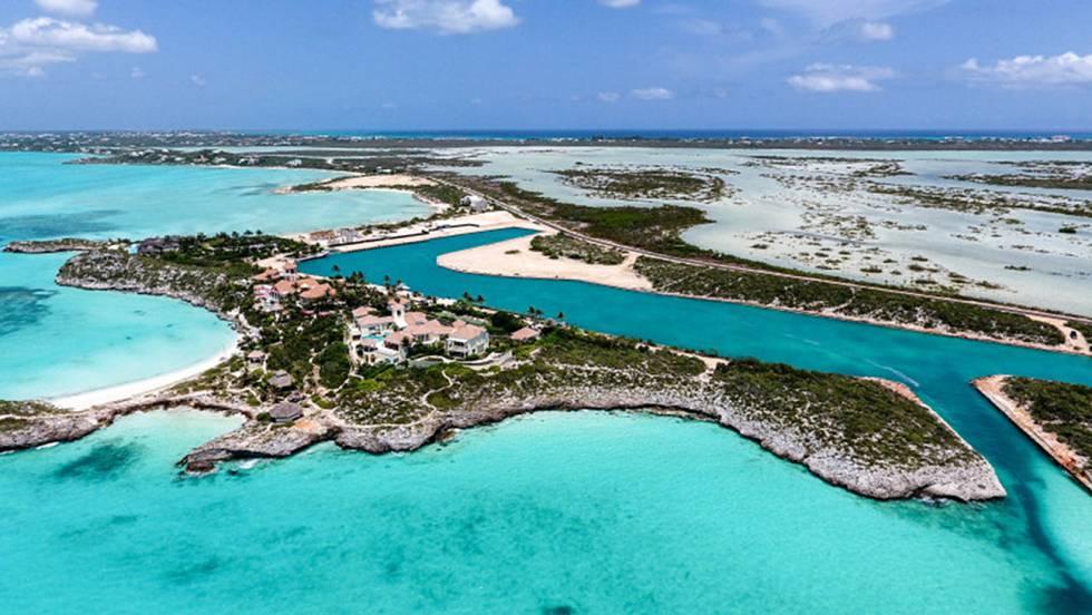 Vista della proprietà del cantante Prince sull'isola di Providenciales.