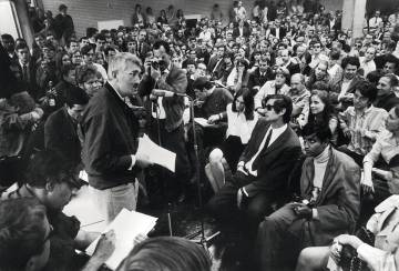 Jürgen Habermas at Frankfurt University in 1968.