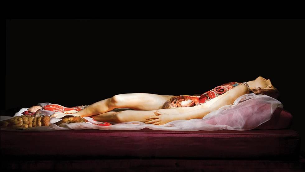 Una de las 'Venus anatómicas' de Clemente Susini en el Palazzo Poggi de la Universidad de Bolonia