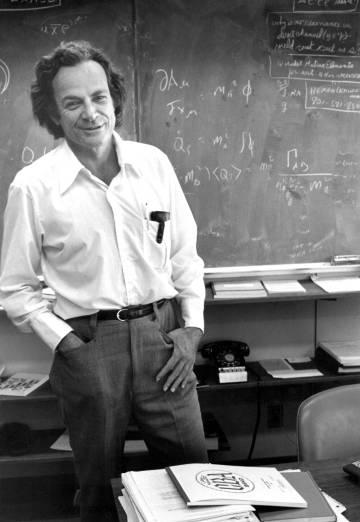 Feynman en su despacho del Instituto de Tecnología de California, en 1974.