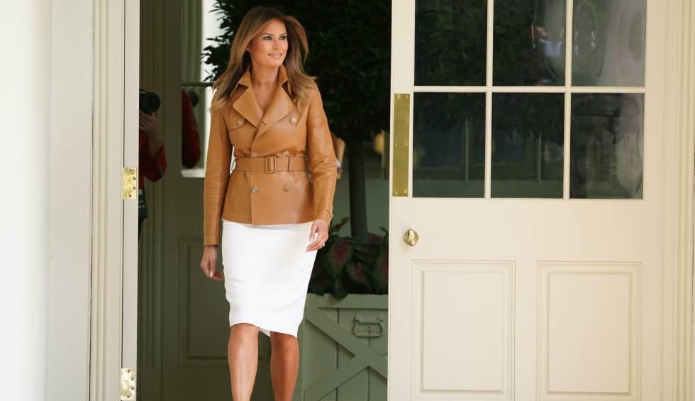Melania Trump, el pasado lunes en la Casa Blanca.