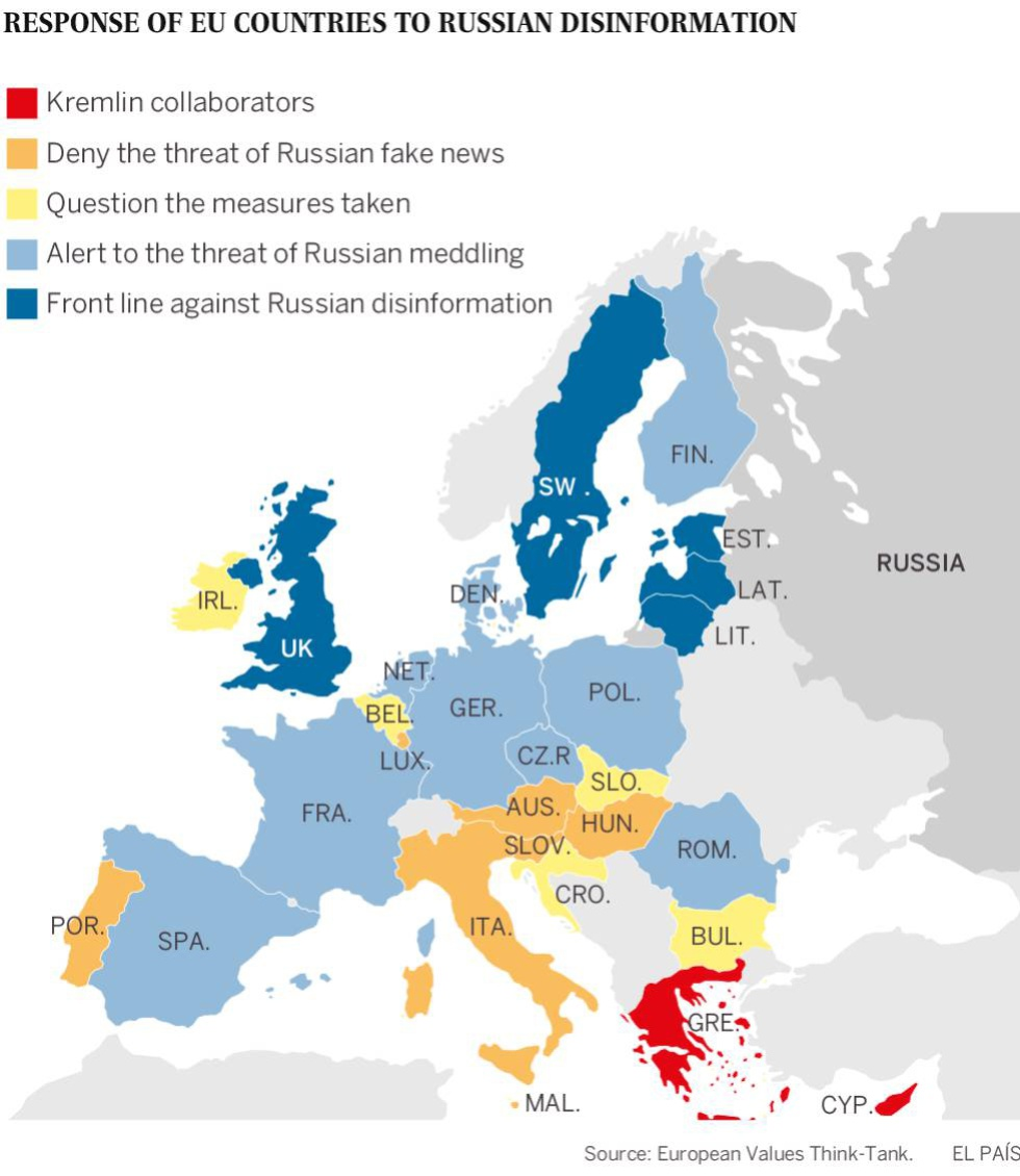 Map Of Germany And Russia.Russian Interference Which European Democracies Are Best Combating