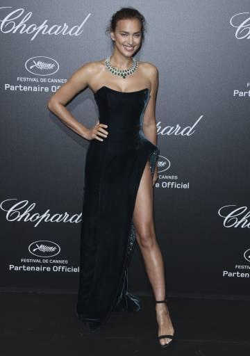 La modelo Irina Shayk, durante la fiesta.