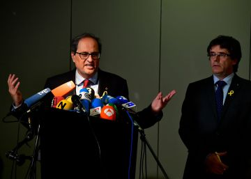New Catalan premier visits Puigdemont in Berlin, asks for end to direct rule