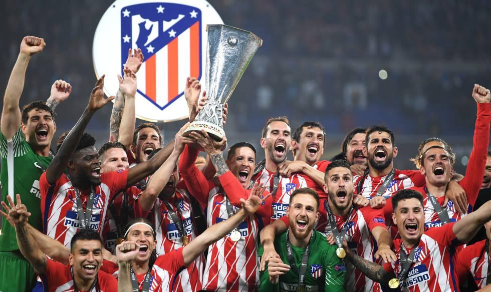 Resultado de imagen de atletico de madrid europa league