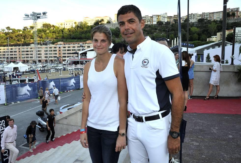 Athina Onassis e Álvaro Miranda em Monte Carlo em junho de 2015.