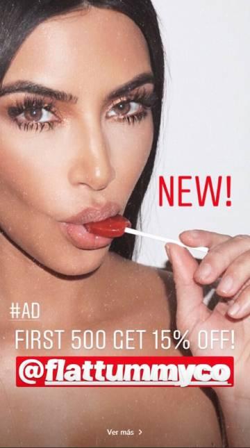 El anuncio que Kim Kardashian ha hecho de las piruletas supresoras del apetito.