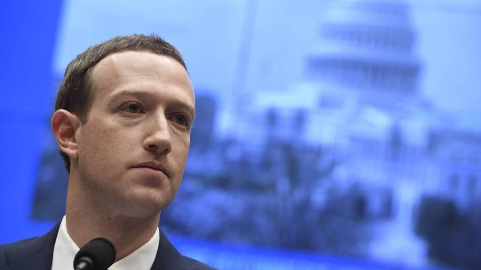 Facebook chief Mark Zuckerberg speaking at the US Congress.