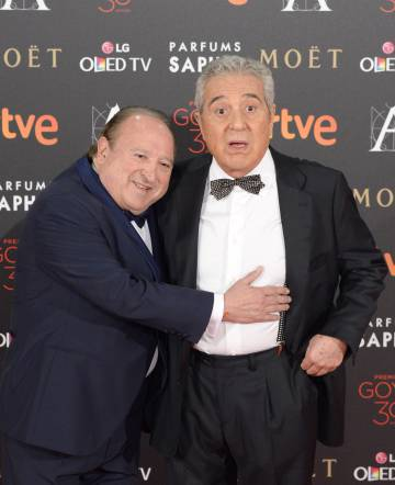 Fernando Esteso y Andrés Pajares en los Premios Goya de 2016.