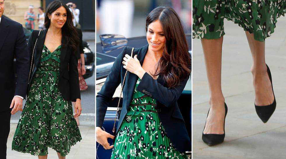 Meghan Markle con vestido de Self-Portait.