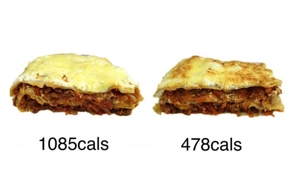 Cómo reducir las calorías de la lasaña y de otros 11 platos a la mitad y que sigan estando ricos