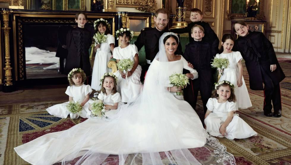 664eec7ab4 Estas son las tres fotos oficiales de la boda de Enrique y Meghan ...