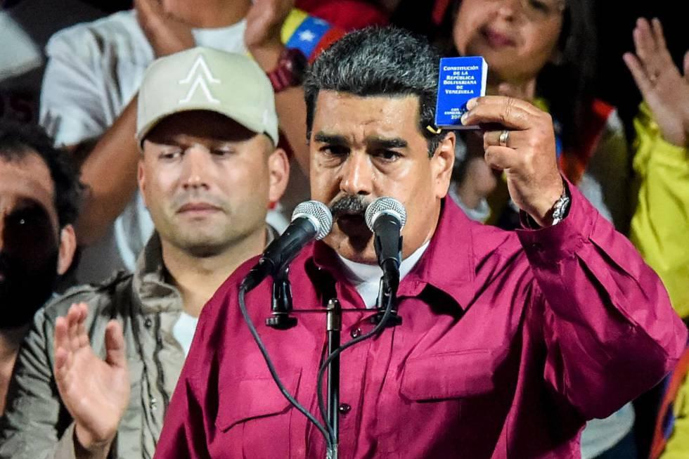 Nicolás Maduro celebra el resultado de las elecciones.