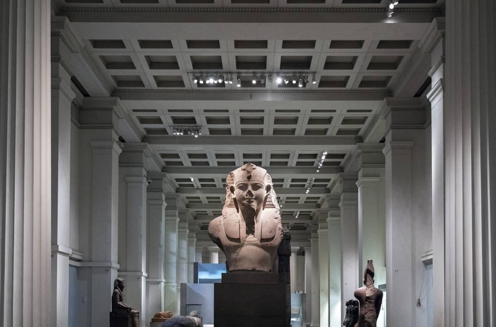 Un cocodrilo sagrado en el sótano del British Museum