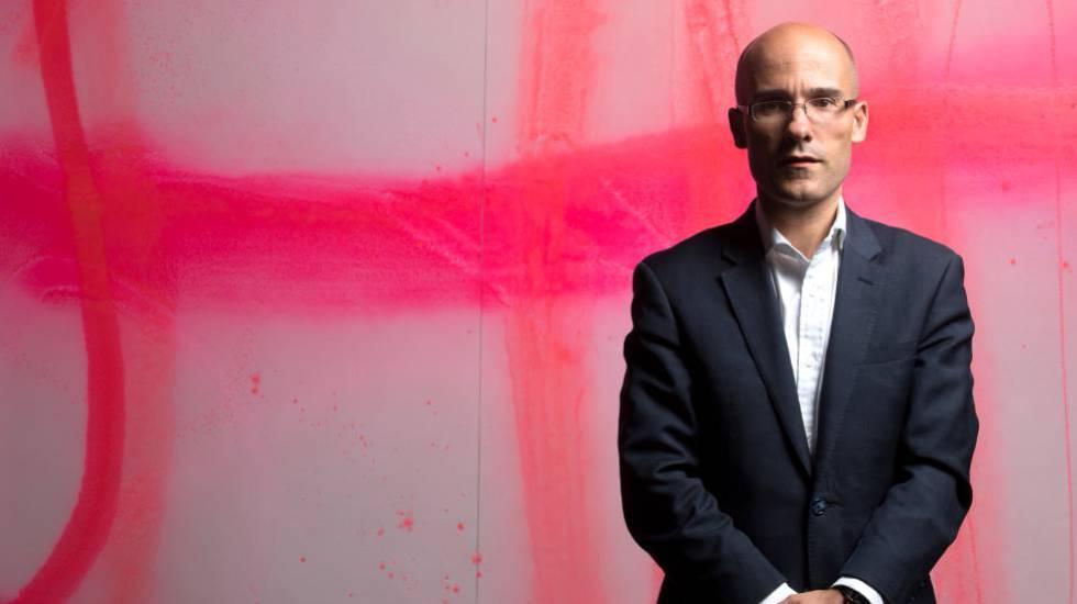 El oncólogo británico Charles Swanton, después de la entrevista.