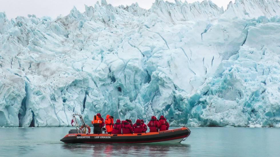 Expedición en el glaciar de los Fletanes, al sur de Groenlandia.