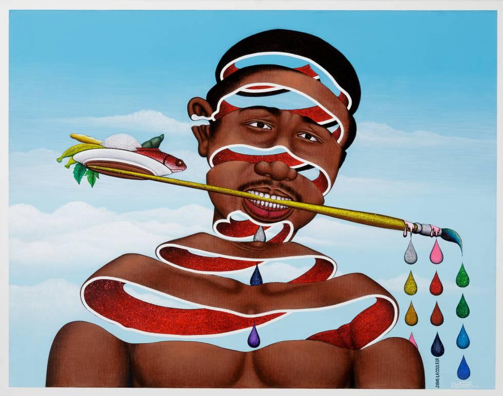 'J'aime la couleur', de Chèri Samba (2004).