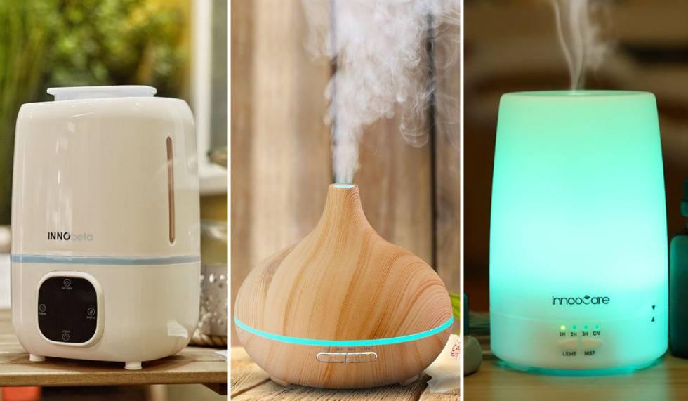Humidificador Aromaterapia Difusor Aceites Luz ambiental Temporizador