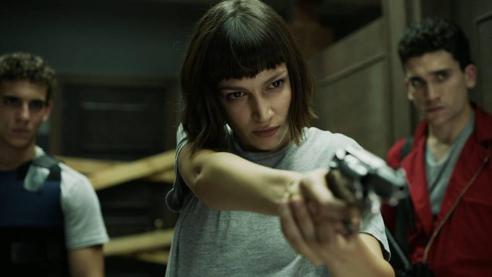 Úrsula Corberó en una escena de la serie 'La casa de papel'.