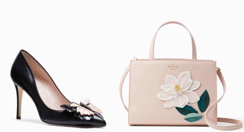 Un zapato y un bolso de la última colección de Kate Spade.