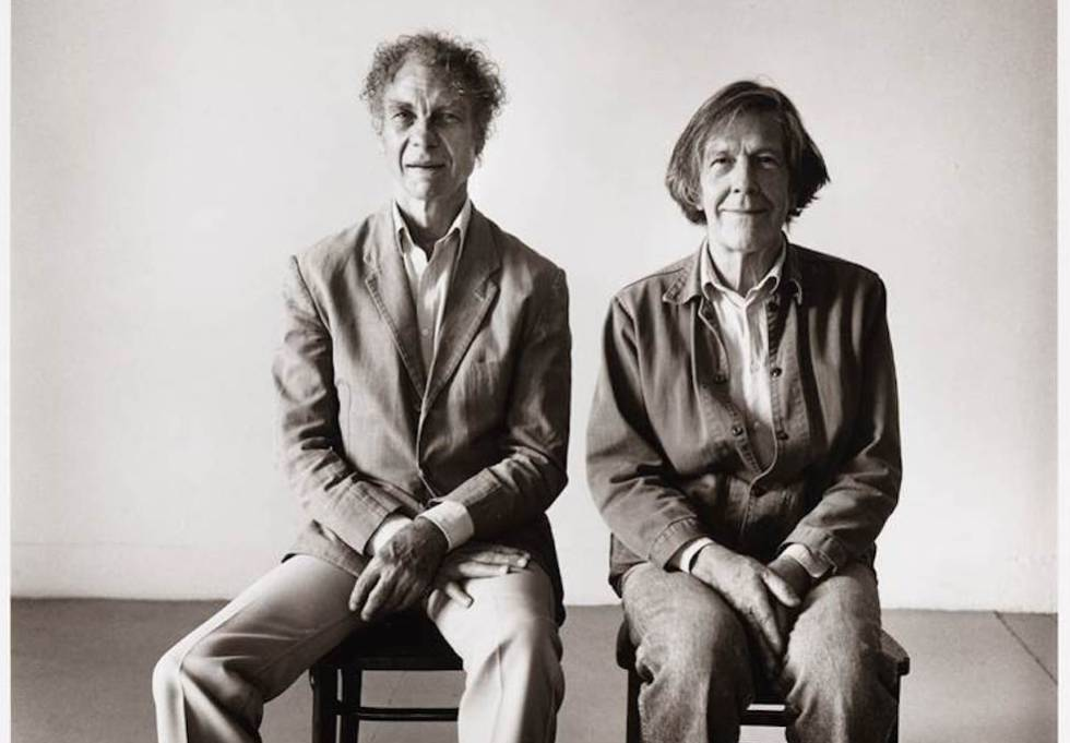 Peter Hujar, 'Merce Cunningham and John Cage seated', 1986.