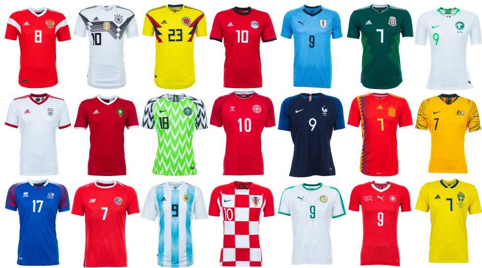 Las camisetas del Mundial de Rusia. cd221694101ae