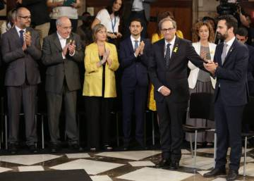 New Catalan government sworn in, paving way for suspension of direct rule