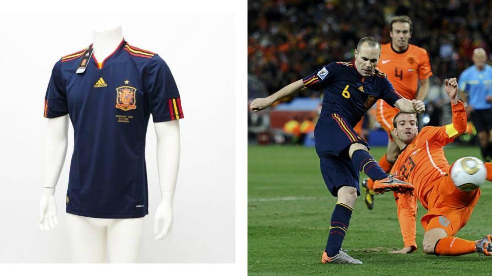 De Inglaterra 66 al gol de Iniesta: nueve camisetas míticas de los mundiales