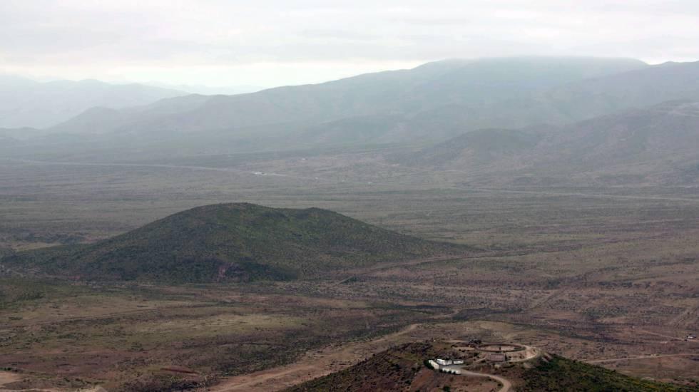 Lugar em que seria construída a mina Dominga, na Comuna de La Higuera