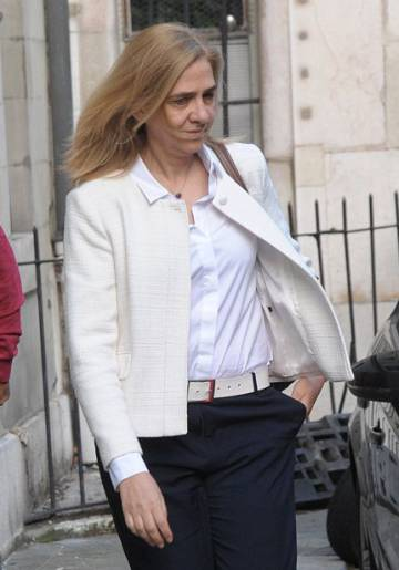 Cristina de Borbón on Tuesday in Geneva, where the family resides.