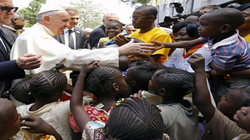 El papa Francisco durante su visita a la República Centroafricana.