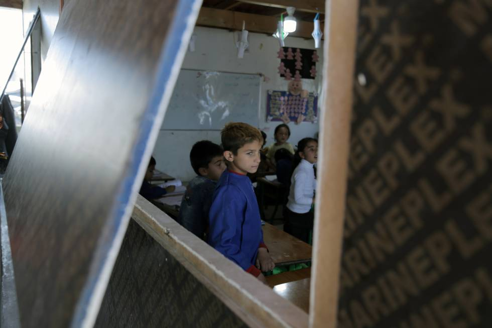 La escuela con más refugiados que nacionales