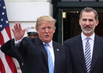 "Trump to Spanish monarchs at the White House: ""I will visit Spain"""