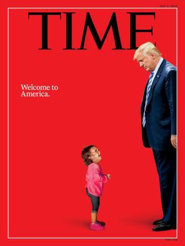 La impactante portada de 'Time' que enfrenta a Trump con ...