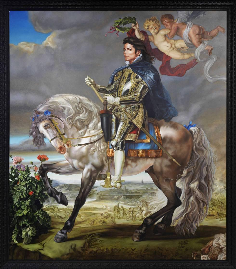 'Retrato ecuestre del Rey Felipe II (Michael Jackson)', de Kehinde Wiley.