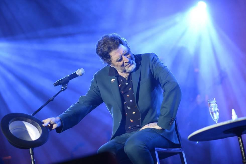El cantante y compositor Joaquín Sabina durante el concierto en Madrid el pasado sábado.