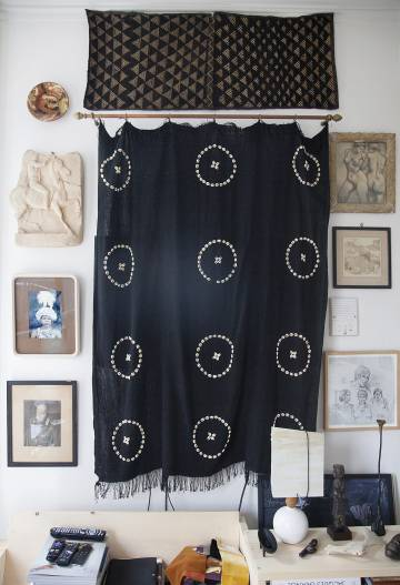 Tela Naga que fue un regalo de la marchante de textiles antiguos Emilie Irving.